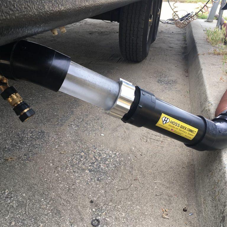 RV and Trailer black tank flush